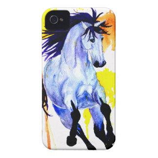 Capinha iPhone 4 Cavalo selvagem da aguarela