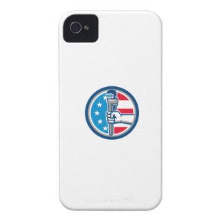 Capinha iPhone 4 Círculo ereto R da bandeira dos EUA da chave de