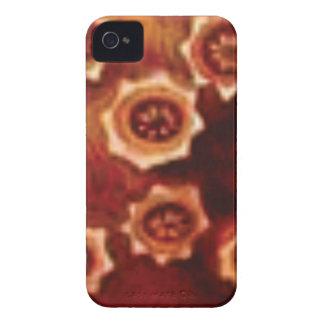 Capinha iPhone 4 conjunto de flor vermelho