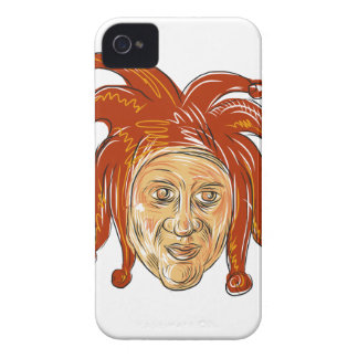 Capinha iPhone 4 Desenho da cabeça do bobo da corte da corte
