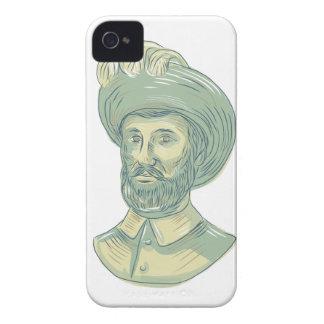 Capinha iPhone 4 Desenho do busto de Juan Sebastian Elcano