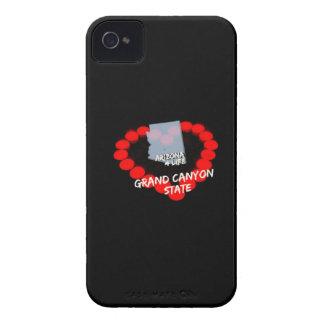 Capinha iPhone 4 Design do coração da vela para o estado de arizona