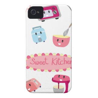 Capinha iPhone 4 Eletricidade cor-de-rosa doce da cozinha e ícone