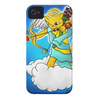 Capinha iPhone 4 Gato do Cupido do amarelo do gengibre do dia dos