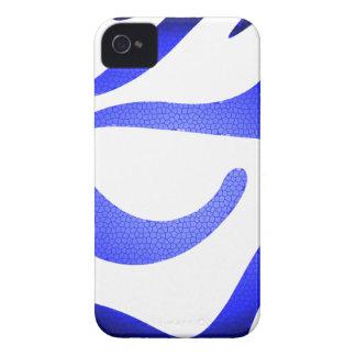 Capinha iPhone 4 iPhone azul 4 de Apple do mosaico