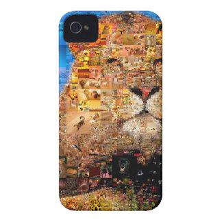 Capinha iPhone 4 leão - colagem do leão - mosaico do leão - leão