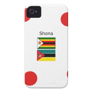 Capinha iPhone 4 Língua de Shona e bandeiras de Zimbabwe e de