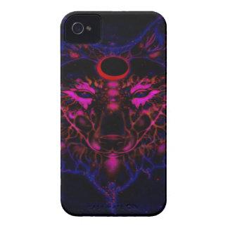 Capinha iPhone 4 Lobo azul de néon Mythical