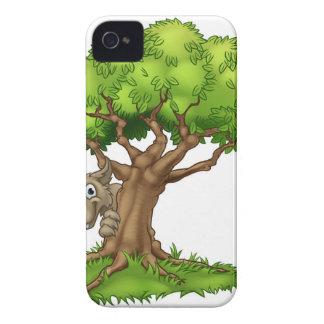Capinha iPhone 4 Lobo e árvore maus grandes do conto de fadas dos