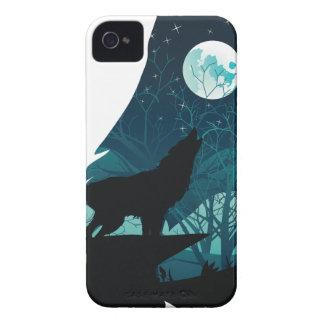 Capinha iPhone 4 Lobo que urra com floresta