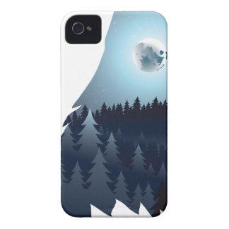Capinha iPhone 4 Lobo que urra com floresta 4