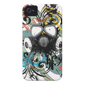Capinha iPhone 4 Máscara de gás floral do Grunge
