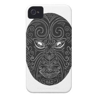 Capinha iPhone 4 Máscara maori Scratchboard