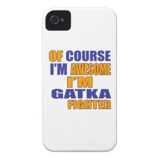 Capinha iPhone 4 Naturalmente eu sou lutador de Gatka