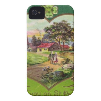 Capinha iPhone 4 O dia retro de St Patrick do irlandês do vintage