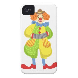Capinha iPhone 4 Palhaço amigável colorido que joga o acordeão na