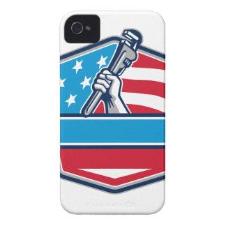 Capinha iPhone 4 Protetor da bandeira dos EUA da chave de tubulação