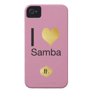 Capinha iPhone 4 Samba Playfully elegante do coração de I