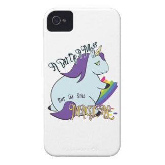 Capinha iPhone 4 Unicórnio carnudo que come um arco-íris - uma