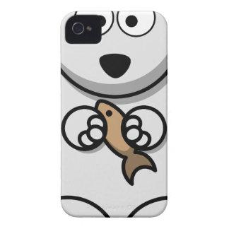Capinha iPhone 4 Urso polar com desenhos animados dos peixes