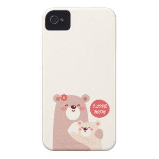 Capinha iPhone 4 Ursos da mamã e do miúdo - mamã do amor de I