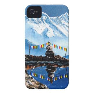 Capinha iPhone 4 Vista panorâmica da montanha Nepal de Annapurna