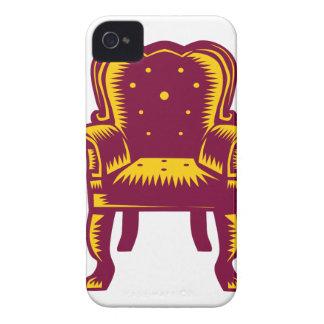 Capinha iPhone 4 Woodcut grande barroco da cadeira do braço