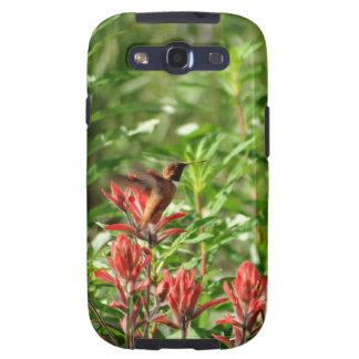 Capinha Samsung Galaxy S3 Flor do vermelho do pássaro do colibri