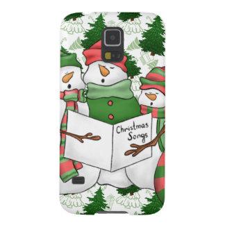 Capinhas Galaxy S5 3 Carolers do boneco de neve