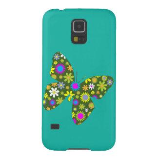 Capinhas Galaxy S5 Borboleta colorida do vintage