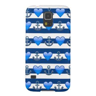 Capinhas Galaxy S5 Caixa azul da galáxia S5 de Emoji Samsung da