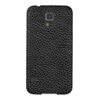 Capinhas Galaxy S5 Couro preto do falso