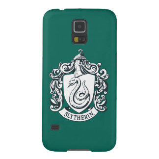 Capinhas Galaxy S5 Crista de Harry Potter | Slytherin - preto e