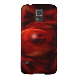 Capinhas Galaxy S5 Esfera do fogo vermelho