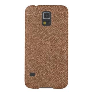 Capinhas Galaxy S5 Falso Brown natural de couro