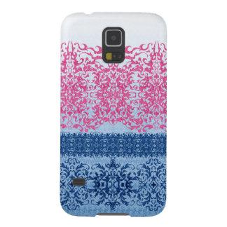 Capinhas Galaxy S5 Flor de lis intrincada no rosa e no azul