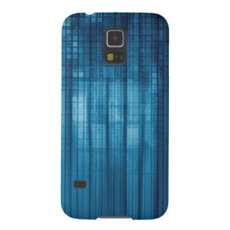 Capinhas Galaxy S5 Fundo do mosaico da tecnologia como uma arte do