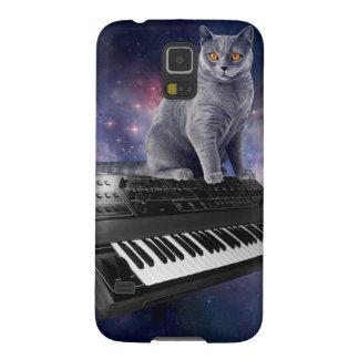 Capinhas Galaxy S5 gato do teclado - música do gato - espace o gato