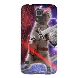 Capinhas Galaxy S5 gatos do guerreiro - gato do cavaleiro - laser do