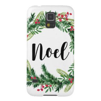 Capinhas Galaxy S5 Grinalda da aguarela do Natal