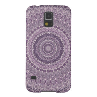 Capinhas Galaxy S5 Mandala roxa da pena
