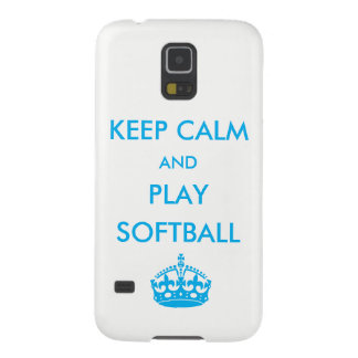 Capinhas Galaxy S5 Mantenha o softball da calma e do jogo