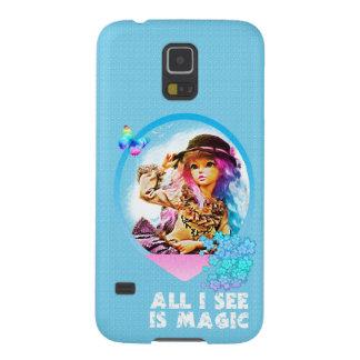 Capinhas Galaxy S5 Menina do arco-íris