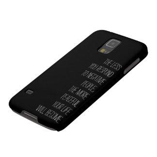 Capinhas Galaxy S5 Menos você responde às pessoas negativas de