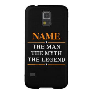 Capinhas Galaxy S5 Nome personalizado o homem o mito a legenda