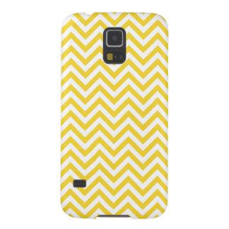 Capinhas Galaxy S5 O ziguezague amarelo e branco listra o teste