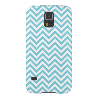 Capinhas Galaxy S5 O ziguezague azul e branco listra o teste padrão