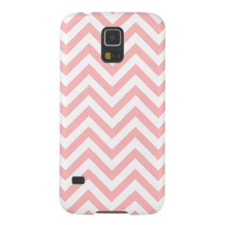 Capinhas Galaxy S5 O ziguezague cor-de-rosa e branco listra o teste