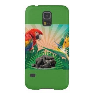 Capinhas Galaxy S5 Papagaio da selva do gorila