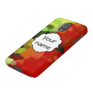 Capinhas Galaxy S5 Pintura verde vermelha